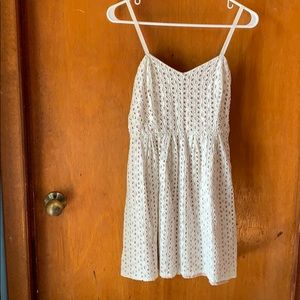 Pins and Needles Summer White Eyelet Dress!